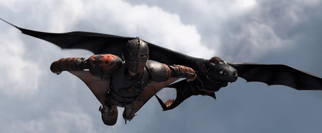 Hiccup and Toothless flying together in the sky from how to train your dragon 2 #HowToTrainYourDragon2 Trailer: Toothless and Hiccup Are Back! #HTTYD2