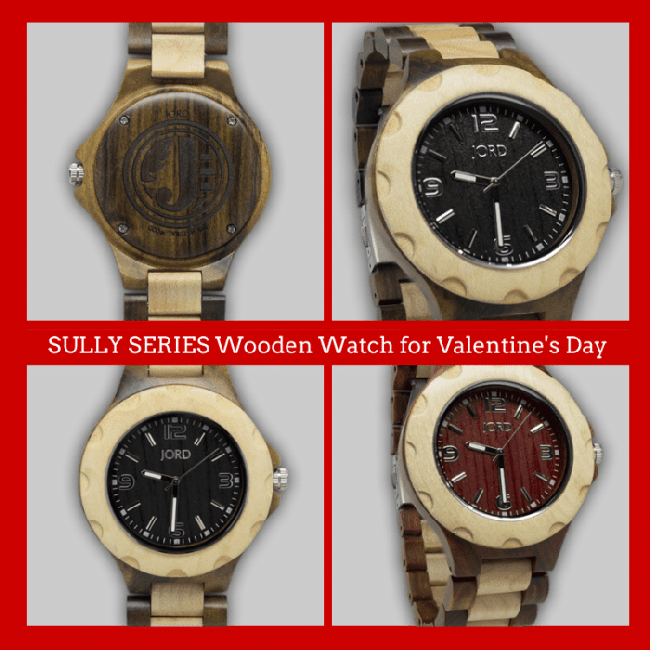 Sully Series Wood Watch by JORD 15 Things To Do On Valentine's Day, Plus A Great Gift Idea For Him
