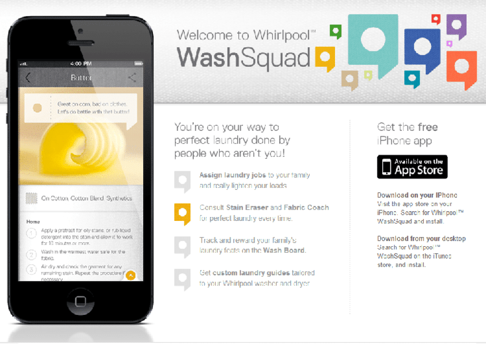 Whirlpool WashSquad App The Whirlpool WashSquad App Helps You With Your Laundry #WhirlpoolWashSquad