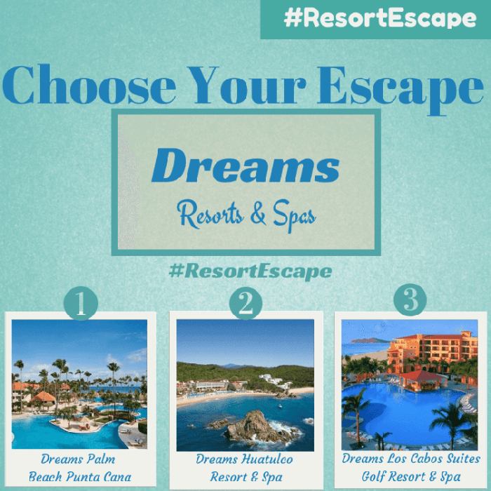 """""""Choose Your Escape"""" Learn How We Can Win A Dream Vacation #ResortEscape  """"Choose Your Escape"""" Learn How We Can Win A Dream Vacation #ResortEscape YOU DECIDE"""