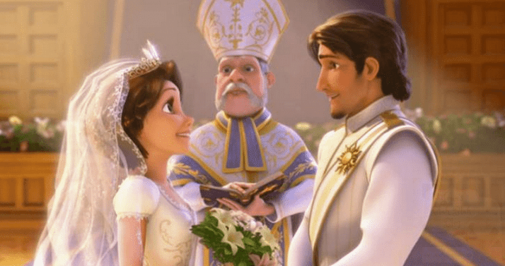 """Tangled,"""" Eugene Fitzherbert aka Flynn Rider and Rapunzel getting married There's Some Hidden Secrets In Disney's Frozen! #DisneyFrozen Secrets In Disney's Frozen"""