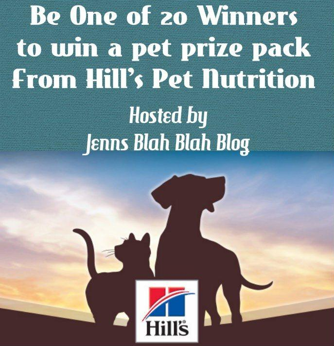 pet giveaway 20 People Win a Prize Package for your Pup or Kitty From Hills Pet Nutrition!
