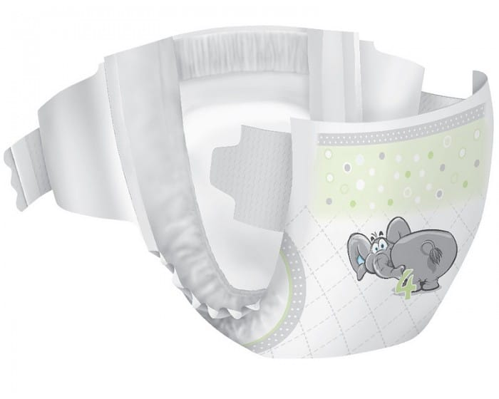 affordable diaper with cute elephant on the front by well beginnings Things I Look For When Choosing Disposable Diapers For My Active Girls