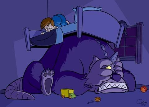 sweet bottomsmonster-under-bed Scared of the Dark? 5 Tips To Help Your Child Sleep Better At Night.