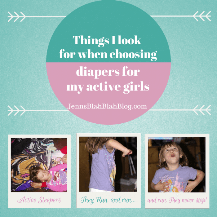 Things I Look For When Choosing Disposable Diapers For My Active Girls banner Things I Look For When Choosing Disposable Diapers For My Active Girls