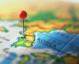 Seoul Marked on a Map