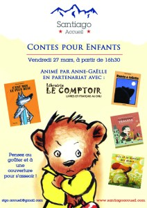 Affiche contes pour enfants Santiago Accueil