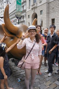 Jenny (Xiao) Zhang at Wall St in New York