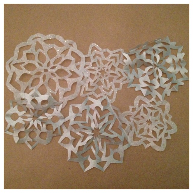 Snowflake Cylinders Step 1