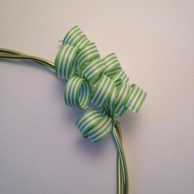 Curled Paper Ribbon Wreath by Jen's Blossoms