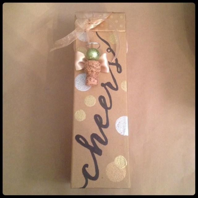 Cork Angel & Wine Box Finished