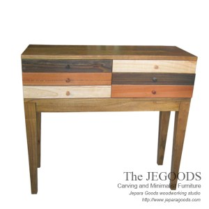 Rustic Pop Console Table Drawers