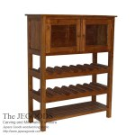 Teak Bottle Rack