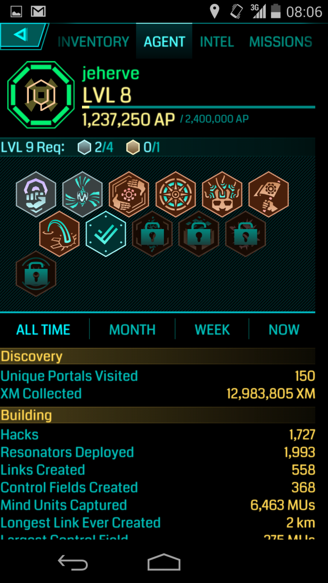 Ingress Level 8