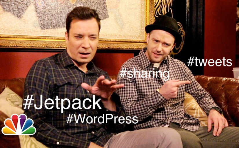 Jetpack: add hashtags to the twitter sharing button