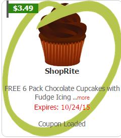 Free 6pk Cupcakes Shoprite 10 18 Jerseycouponmom Com