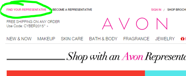 Avon Find YOur Rep
