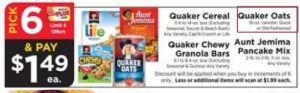 Quaker Pick 6
