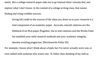 quoting research papers mla format