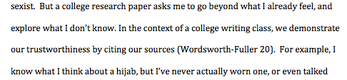 How to cite a paraphrase in MLA Style.