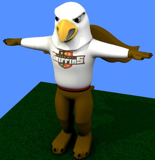 Seton Hill University's Griffin Mascot in Blender 3D