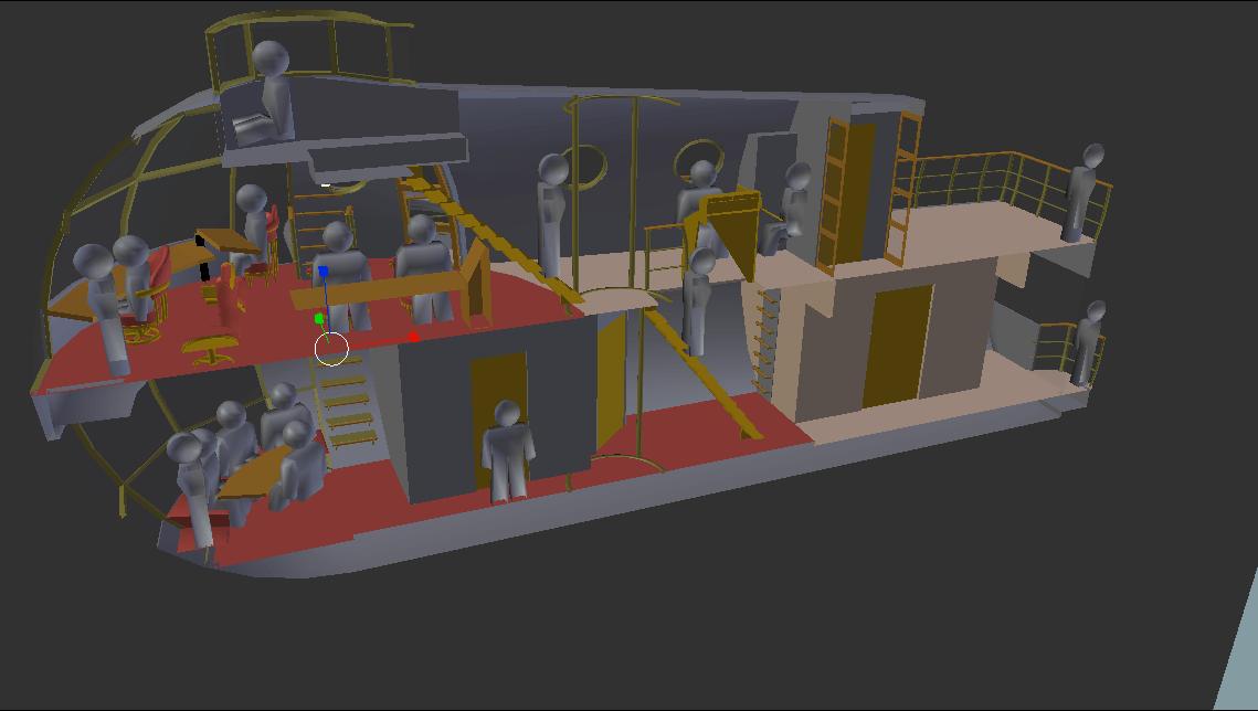 Steampunk Airsloop Cutaway -- Blender 3D