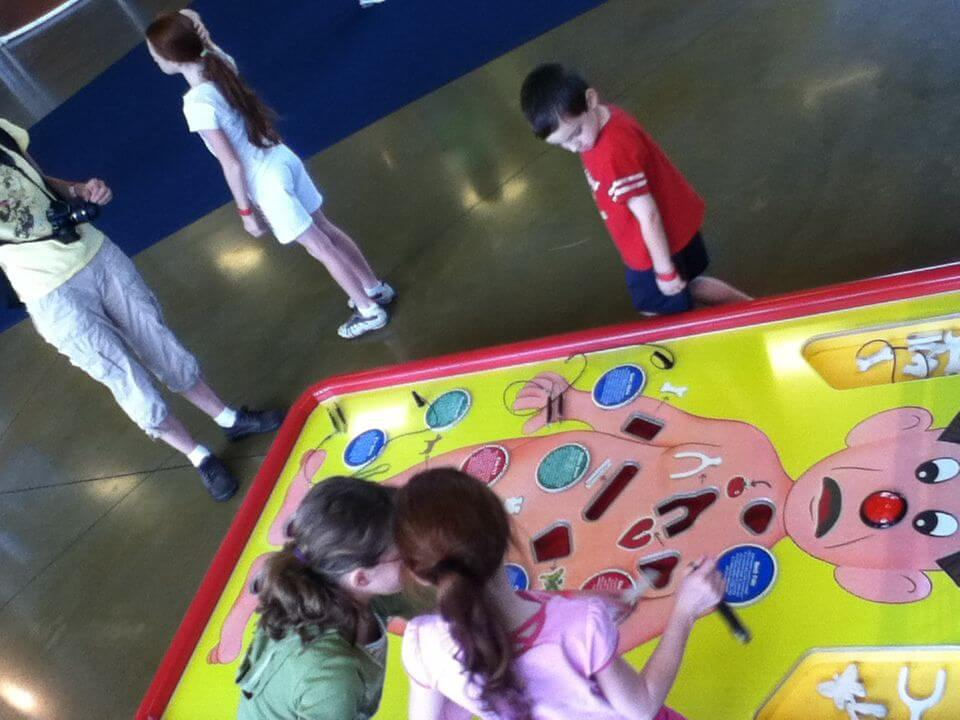 Giant Operation game at the Carnegie Science Center SportsWorks.