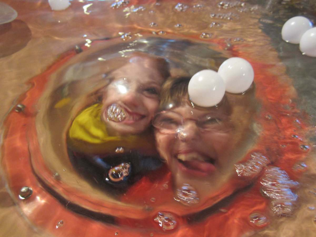 Exploring the dome under the water table.