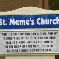 St. Meme's Church Sign