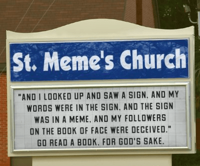 St. Meme's Church Sign