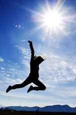 iStock_Leaping against blue sky Small