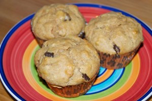Chocolate Chip Peanut Butter Banana Muffins
