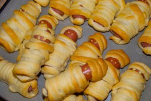 Mummy Dogs for Halloween