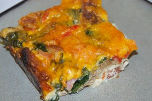 Healthy Ham and Cheese Breakfast Casserole