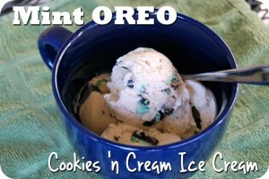 Mint Oreo Cookies 'n Cream Ice Cream