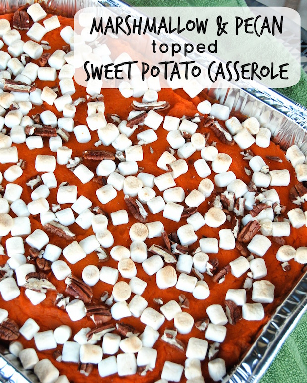 Marshmallow and Pecan topped Sweet Potato Casserole