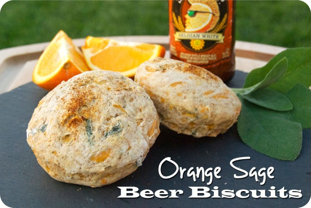 Orange Sage Beer Biscuits