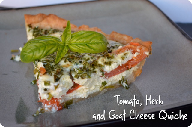 Tomato, Herb and Goat Cheese Quiche