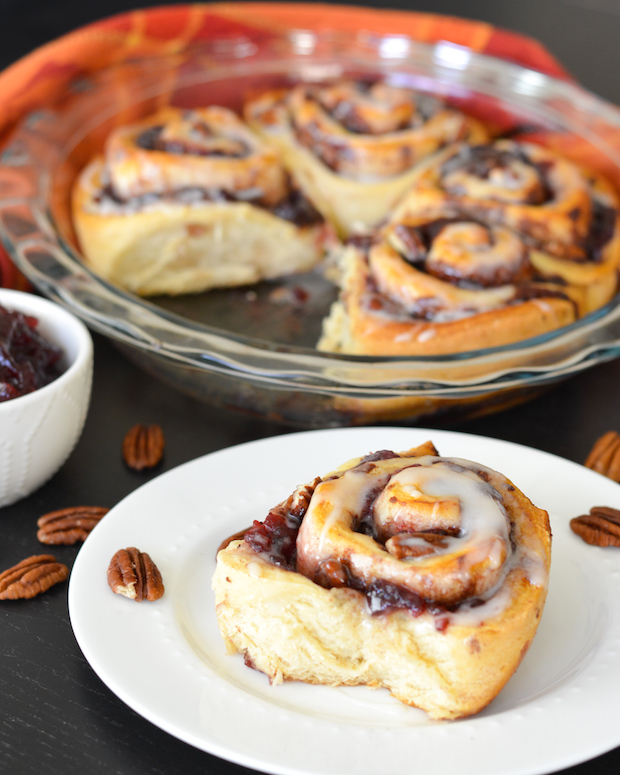 Cranberry Pecan Cinnamon Rolls | Flying on Jess Fuel