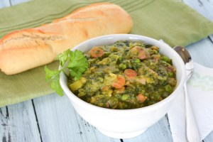 Wintergreen Soup with Split Peas and Ham
