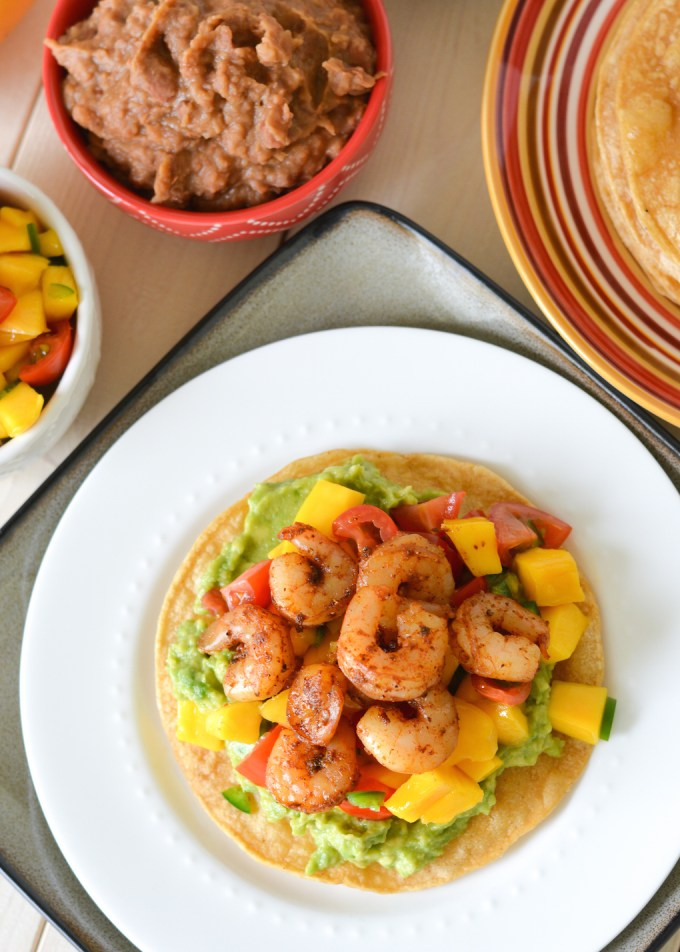creamy tomatillo avocado salsa shrimp tostadas with avocado salsa ...