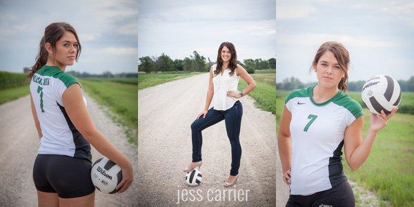Senior Sports Portraits | Volleyball