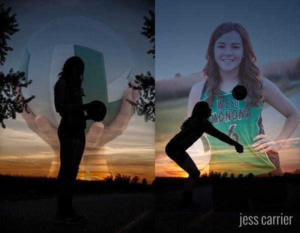 Sports Senior Portraits | Volleyball