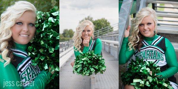 Sports Senior Portraits | Cheerleading