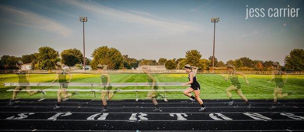 Sports Senior Portraits | Track