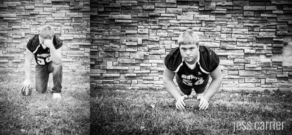Senior Football Pushup Picture