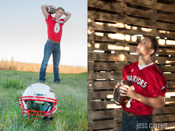 Football Senior Photo Ideas (Click to see more)