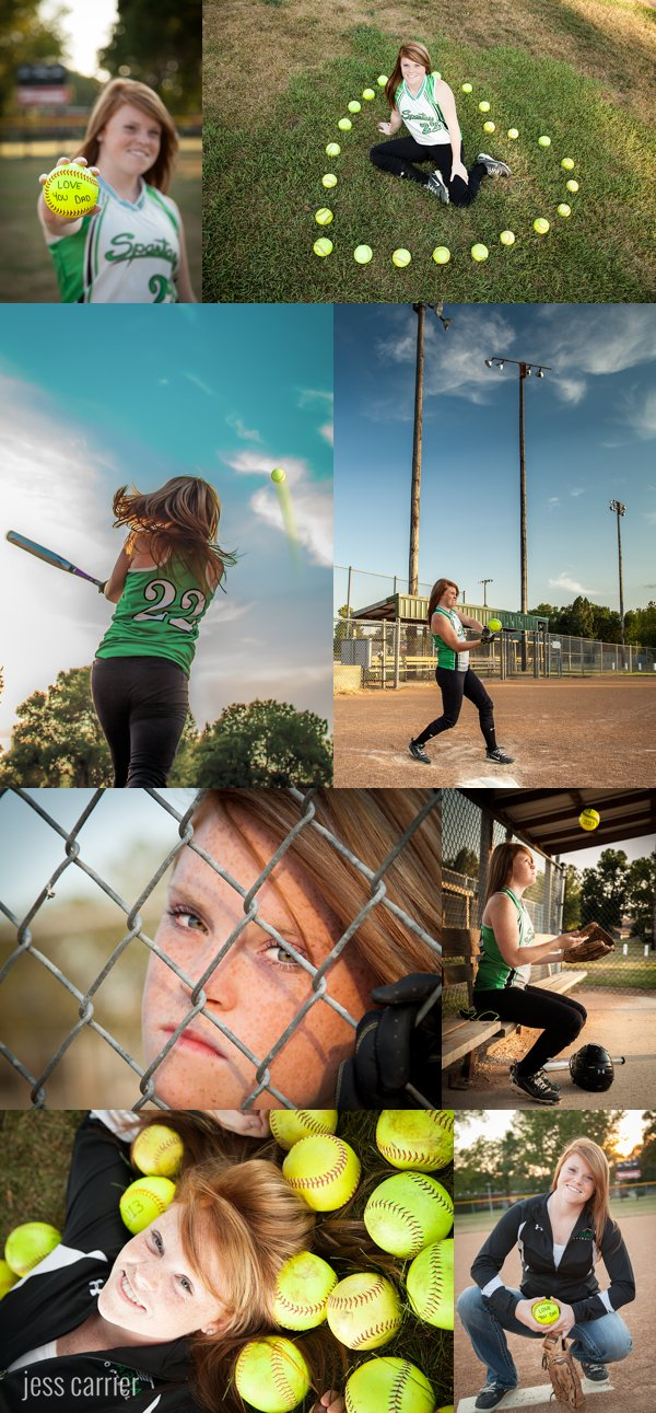 Senior Sports Portraits | Softball