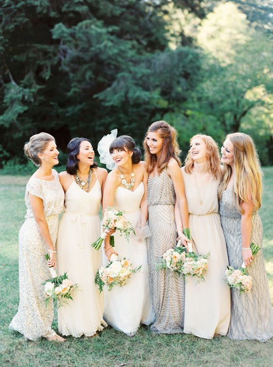 Mis-matched Bridesmaid Dress Inspiration | 11 Tips to Personalize Your Wedding - Jessica Dum Wedding Coordination #weddingtips
