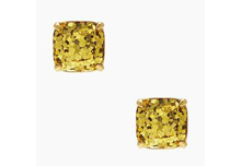 Kate Spade Gold Glitter Stud Earrings | Jessica Dum Wedding Coordination December Favorites